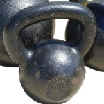 A picture of a kettlebell, used by Shawn to help ibs.