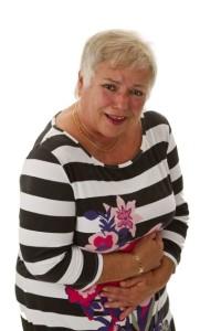 Female senior with bowel pain