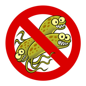 Picture saying no to SIBO bacteria.