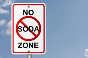 Sign saying No Soda Zone